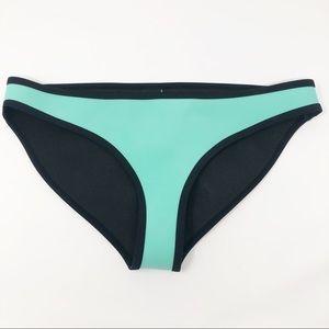 Traingl Swimwear Neopreme Bikini Bottom Turquoise